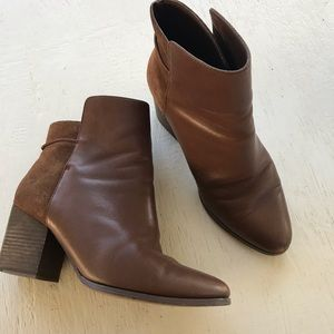 Kate Spade Saturday brown leather boots Rare! 6.5